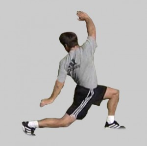 Baseball Backward Lunge with Twist